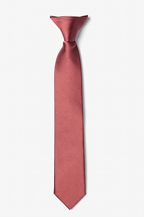 Marsala Clip-on Tie For Boys