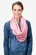 Mauve Polyester Boston Solid Mauve Infinity Scarf