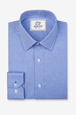 _Elijah Medium Blue Classic Fit Dress Shirt_