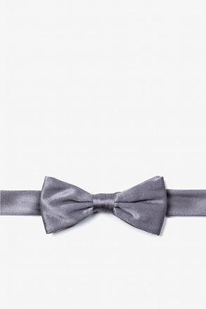 _Medium Gray Bow Tie For Boys_