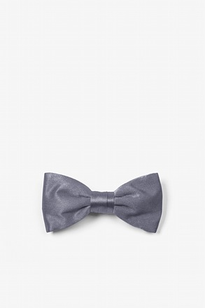 Medium Gray Bow Tie For Infants