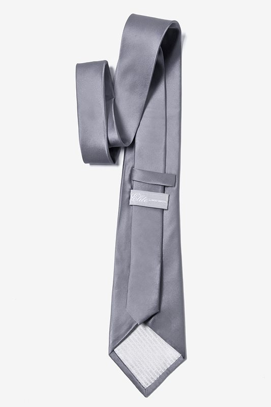 Medium Gray Extra Long Tie