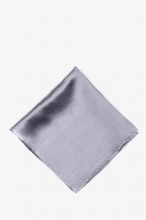 _Medium Gray Pocket Square_