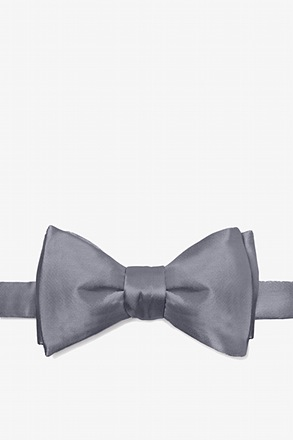 _Medium Gray Self-Tie Bow Tie_