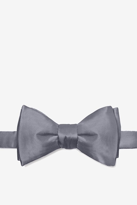 Medium Gray Self-Tie Bow Tie