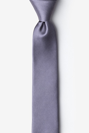 Medium Gray Skinny Tie