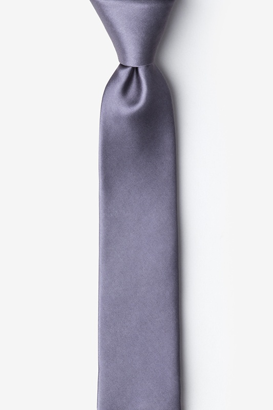 Medium Gray Tie For Boys