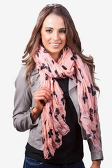Melon Polyester Bow Tied Scarf