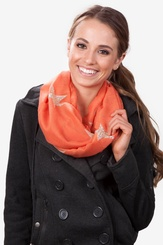Melon Polyester Rising Stars Melon Infinity Scarf