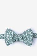 Mineral Blue Cotton Batsford Self-Tie Bow Tie