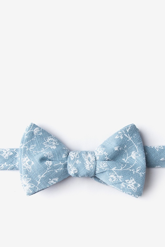 Bexley Mineral Blue Self-Tie Bow Tie