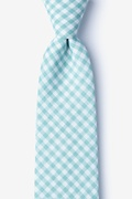 Mineral Blue Cotton Clayton Extra Long Tie