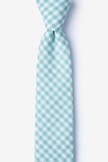 Mineral Blue Cotton Clayton Skinny Tie