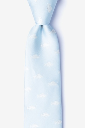 Fish Mineral Blue Extra Long Tie