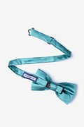 Mineral Blue Pre-Tied Bow Tie