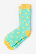 Mint Green Carded Cotton Feelin' Ducky Women's Sock