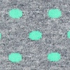 Mint Green Carded Cotton Power Dots Sock