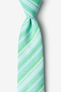 Mint Green Cotton Katy Extra Long Tie