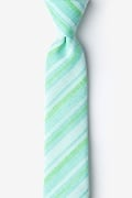Mint Green Cotton Katy Skinny Tie