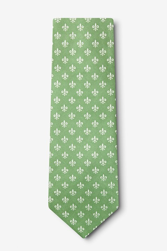 Fleur Crazy Moss Extra Long Tie Photo (1)