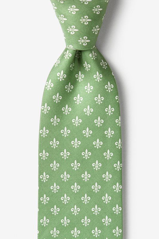 Fleur Crazy Moss Extra Long Tie Photo (0)