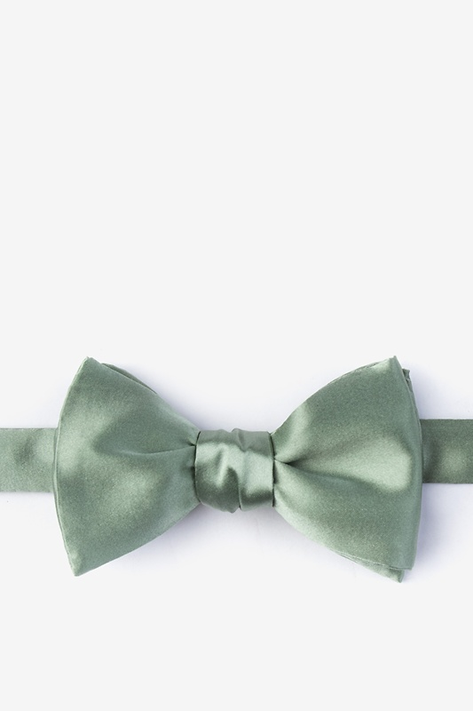 Moss Self-Tie Bow Tie Photo (0)