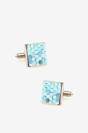 Geometric Pearl Cufflinks
