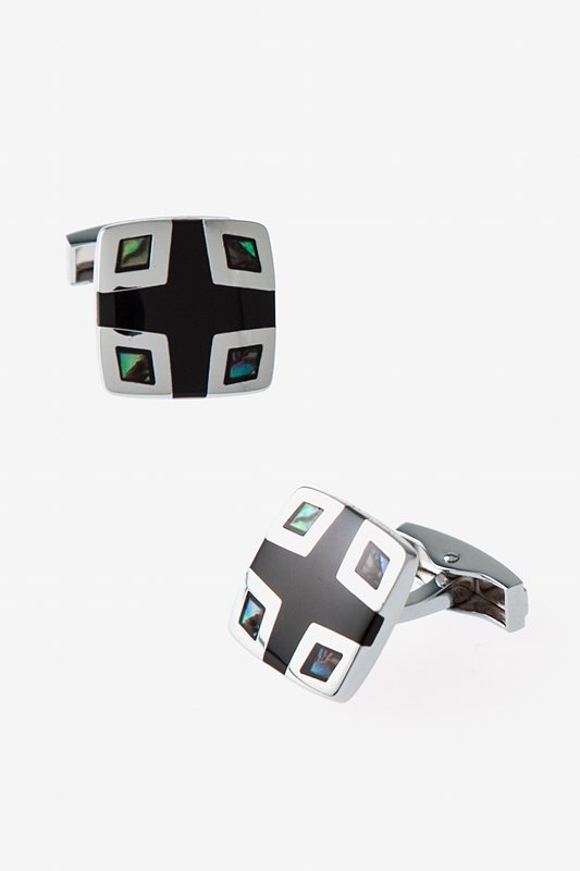 Iridescent Corner Square Cufflinks Photo (0)