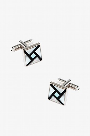 _Pearl Pinwheel Mother Of Pearl Cufflinks_
