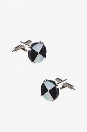 _Round Double Pattern Cufflinks_