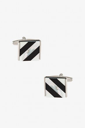 _Simple Lines Square Cufflinks_