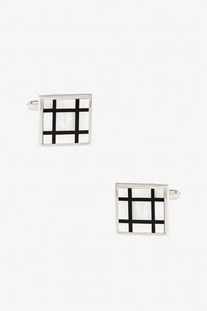 _Square Windowpane Cufflinks_