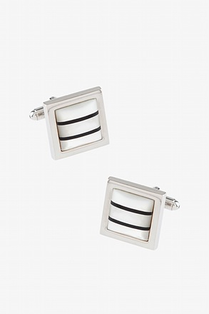 Striped Square Cufflinks