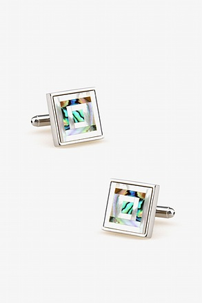 _Tile Mother Of Pearl Cufflinks_