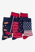 Multicolor Carded Cotton American Pride Sock Pack
