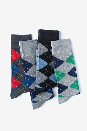 _Argyle Obsession 4 Sock Pack_