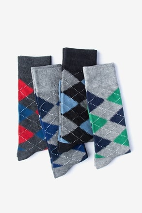Argyle Obsession 4 Multicolor Sock Pack