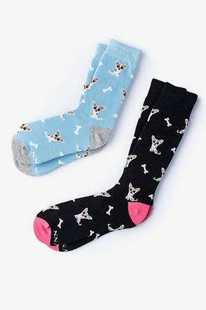 _Chihuahua Dog Multicolor His & Hers Socks_