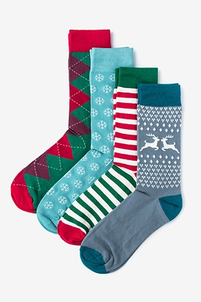 _Christmas 4 Multicolor Sock Pack_