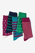Multicolor Carded Cotton Copernicus Sock Pack