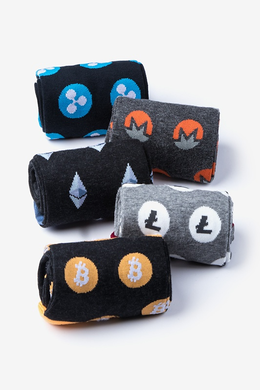 Cryptocurrency Sock Pack Photo (2)
