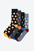Multicolor Carded Cotton Cryptocurrency Sock Pack