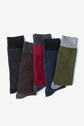 Dark Solid Multicolor Sock Pack