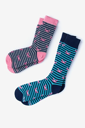 Don't Be Shellfish Multicolor His & Hers Socks