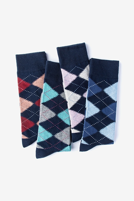 Everyday Argyle 4 Multicolor Sock Pack Photo (0)