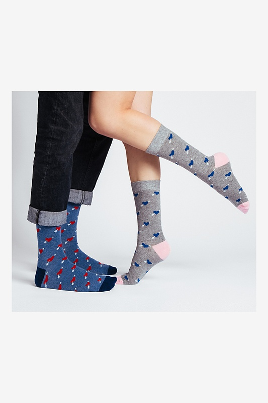 Head Over Heels Multicolor His & Hers Socks Photo (1)