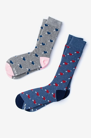 Head Over Heels Multicolor His & Hers Socks