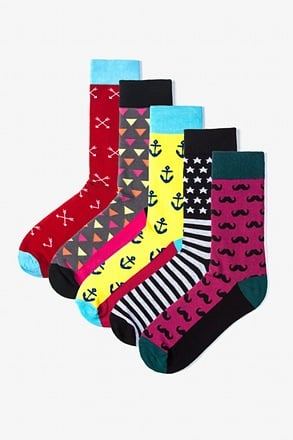 _Hipster 5 Multicolor Sock Pack_