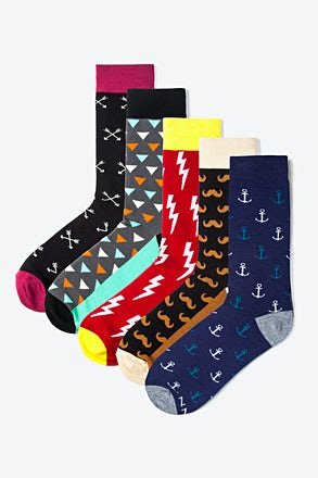 Hipster Pack #2 5 Multicolor Sock Pack