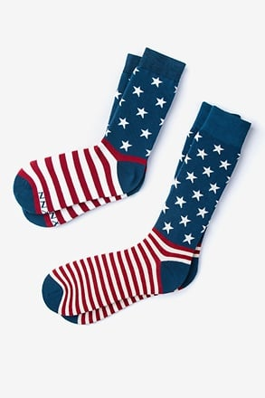 _All-American Multicolor His & Hers Socks_